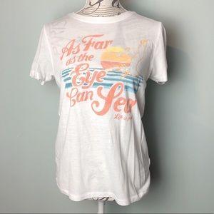 Life is Good nwot sea beach T-shirt white tee